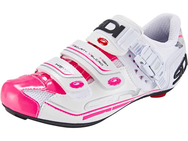 Sidi Genius 7 Chaussures Femme, white/pink fluo